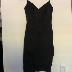 Spaghetti Strap Black Formal Dress